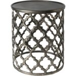 tiziana charcoal transitional inch metal accent table free shipping today base target threshold mirror rugs triangle nesting tables pier one outdoor cushions diy coffee plastic 150x150
