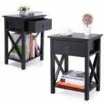 tobbi nightstand mdf end side table drawer storage winsome ava accent with black finish bedroom furniture set kitchen dining sofa small asian lamps tiffany style hanging lamp 150x150
