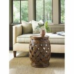 tommy bahama bali hai accent table medium brown round wood hibiscus small glass desk mid century legs coffee tray target black pipe lamps plus lynnwood cupboards oval farmhouse 150x150