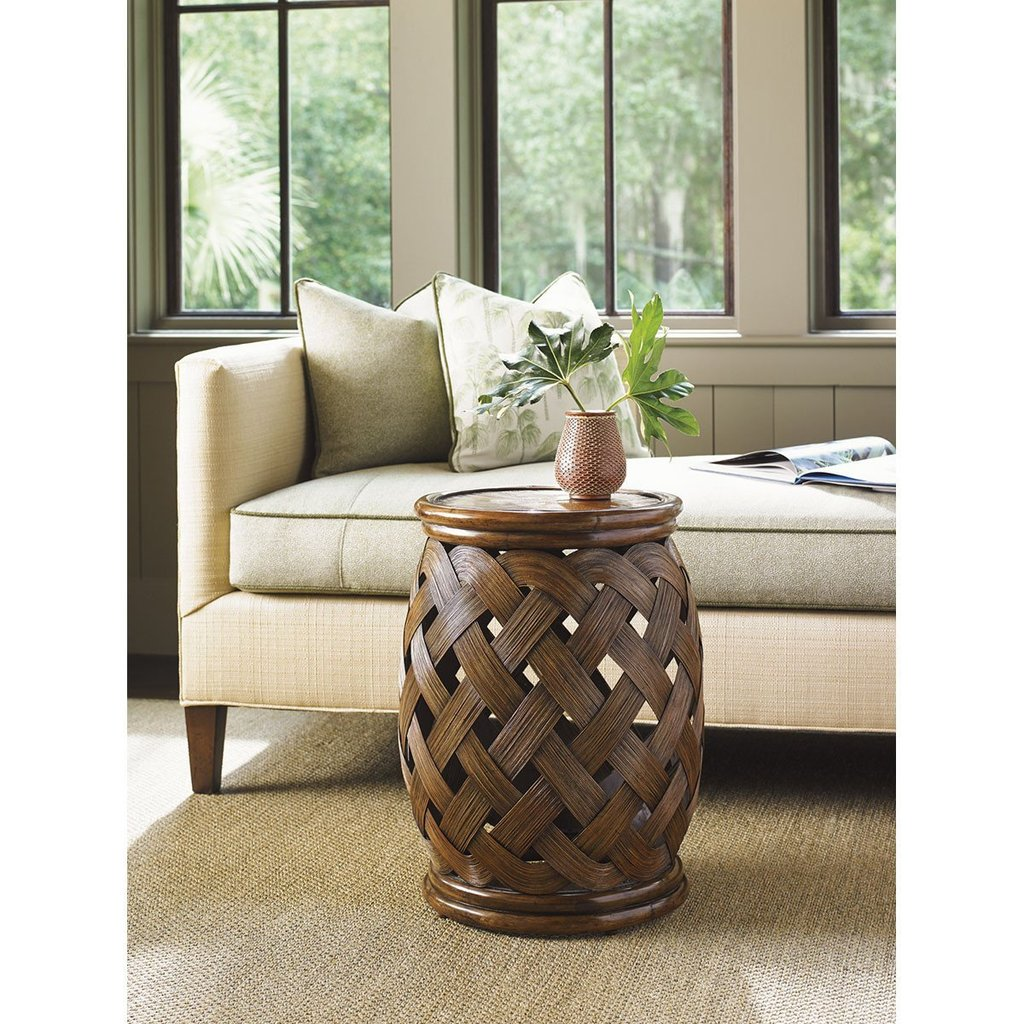 tommy bahama bali hai accent table medium brown round wood hibiscus small glass desk mid century legs coffee tray target black pipe lamps plus lynnwood cupboards oval farmhouse