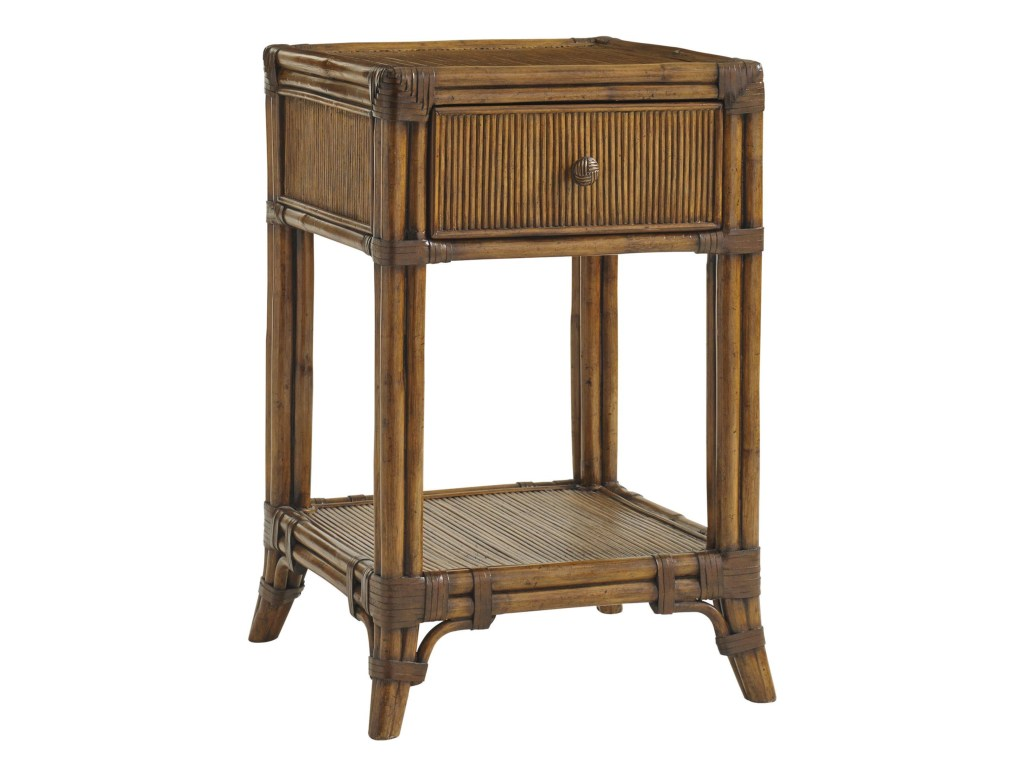 tommy bahama home bali hai del sol bedside table with open products color outdoor woven metal accent threshold haidel small corner ikea modern nest coffee tables industrial and