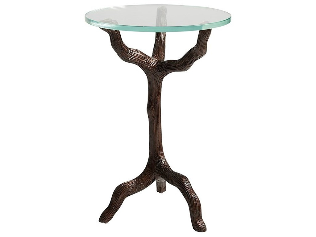 tommy bahama home los altos trieste contemporary twig products color metal accent table with glass top altostrieste yellow lamp base small white round pottery barn and chairs for