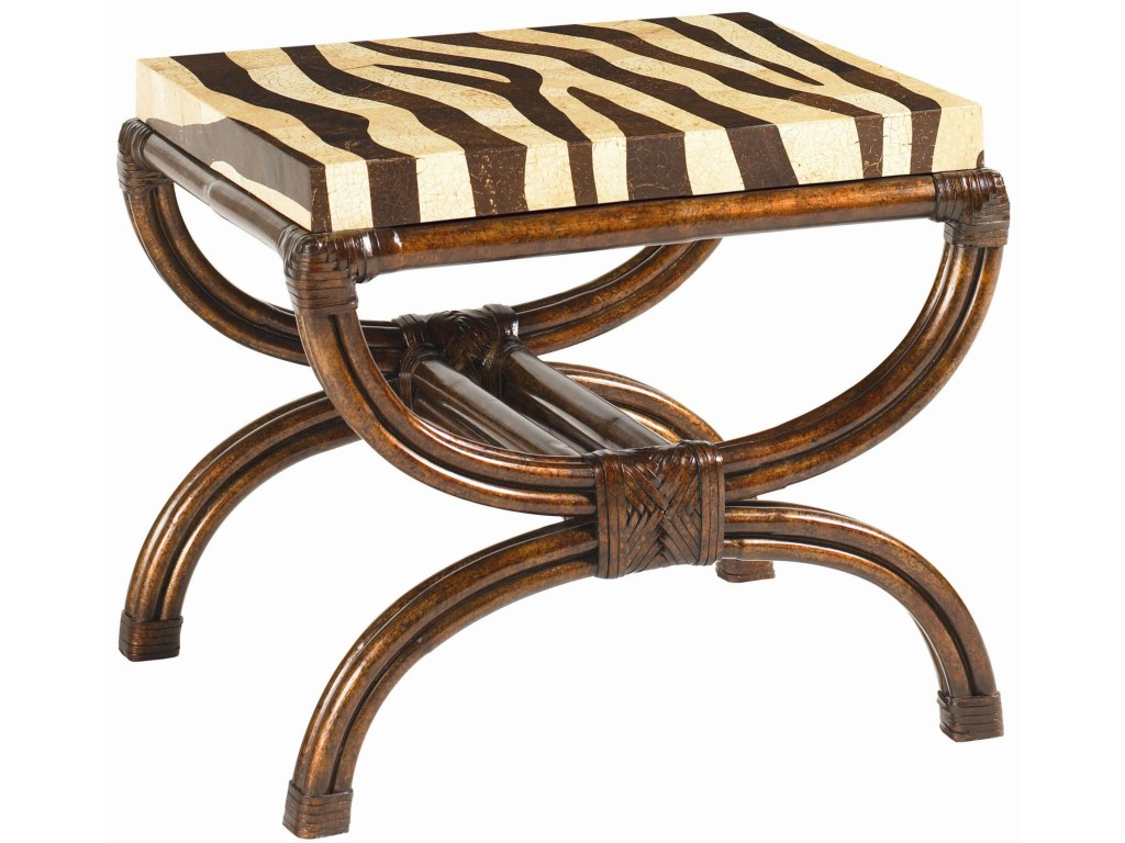 tommy bahama home royal kahala coco shell zebra print striped products color accent table delight narrow rectangular side waterproof phone pouch target vitra style chair
