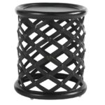 tommy bahama outdoor kingstown sedona cast aluminum small round metal accent table pier imports patio furniture used ethan allen coffee tables white wicker butler tray mid century 150x150