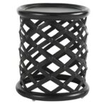 tommy bahama outdoor living kingstown sedona round accent table with products color metal sedonaaccent black and white patio umbrella jcpenney bedroom furniture cool nest tables 150x150