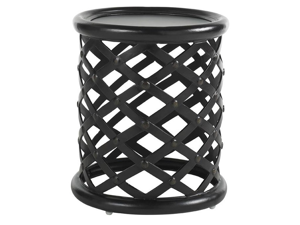 tommy bahama outdoor living kingstown sedona round accent table with products color metal sedonaaccent black and white patio umbrella jcpenney bedroom furniture cool nest tables