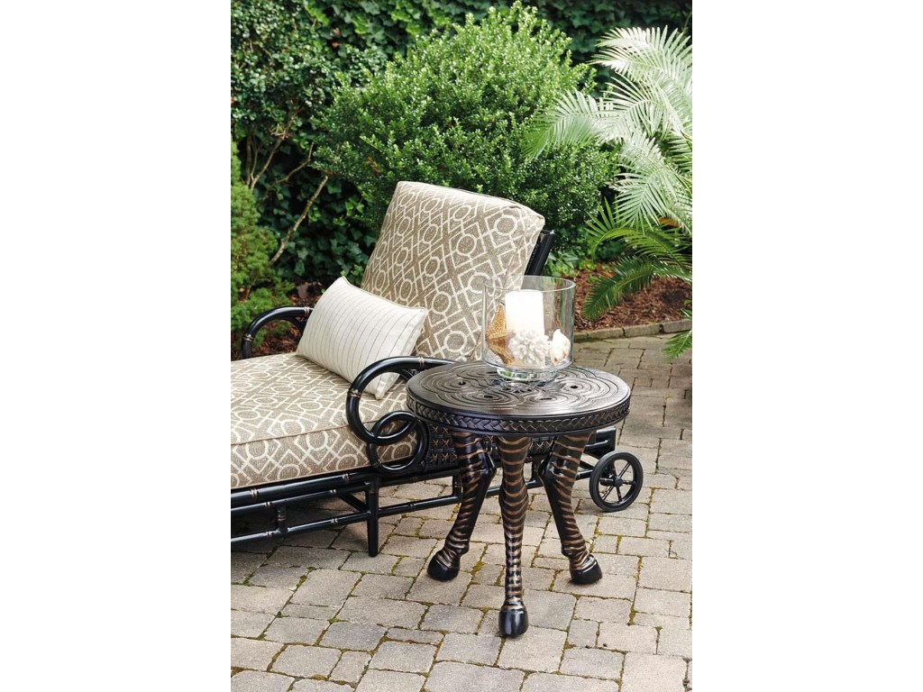 tommy bahama outdoor living marimba zebra accent products color misty garden woven metal table threshold marimbaround kitchen chairs shabby chic chest drawers barnwood bar hall