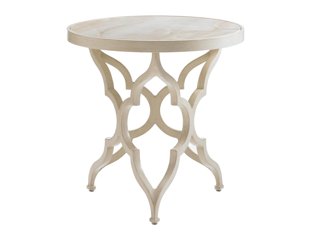 tommy bahama outdoor living misty garden accent table with products color marimba wood gardenround porcelain top backyard nic mosaic side ikea small storage address plaques patio