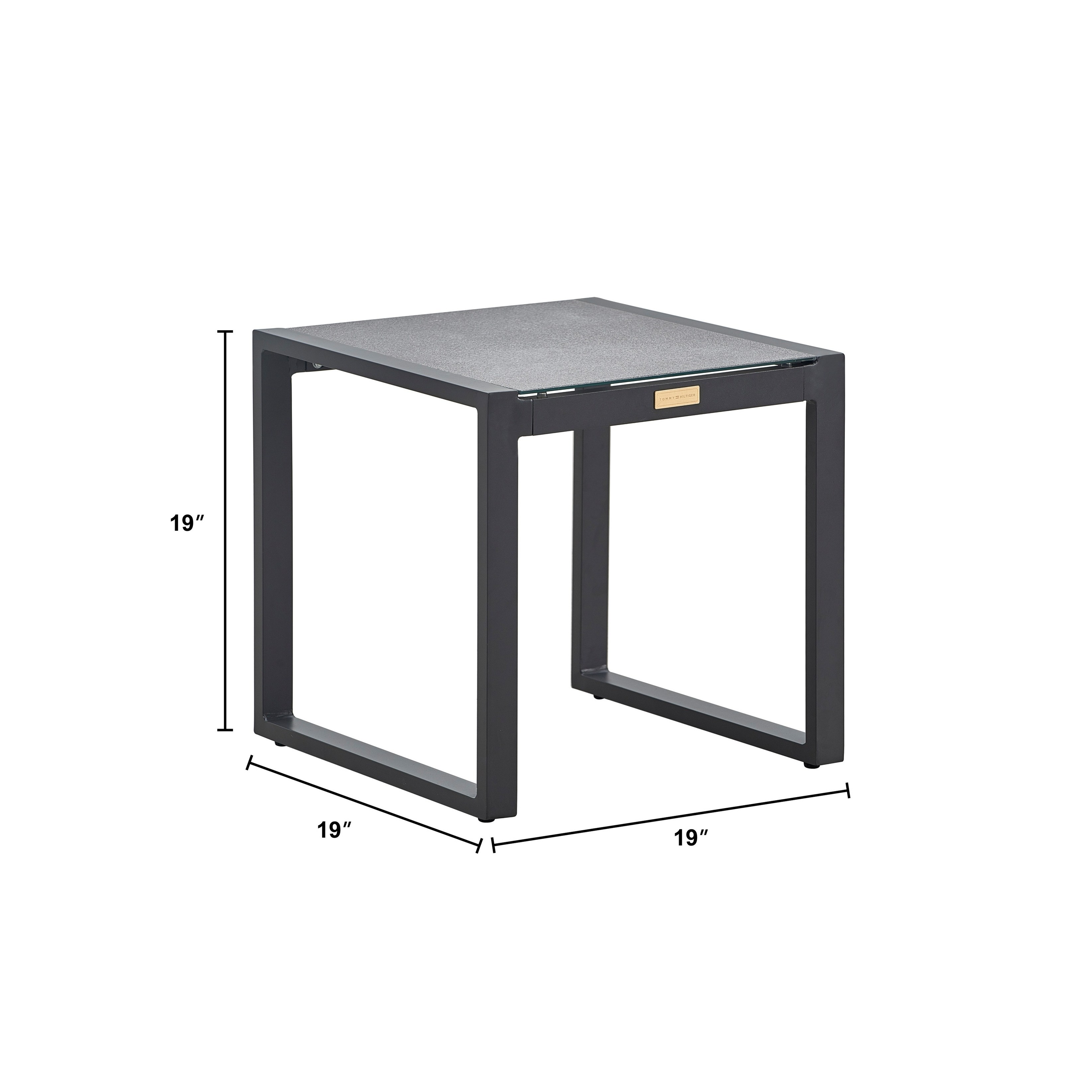 tommy hilfiger hampton outdoor side table with pebbled glass natural gray metal free shipping today diy living room round ikea macys tablecloth brass end top small outside