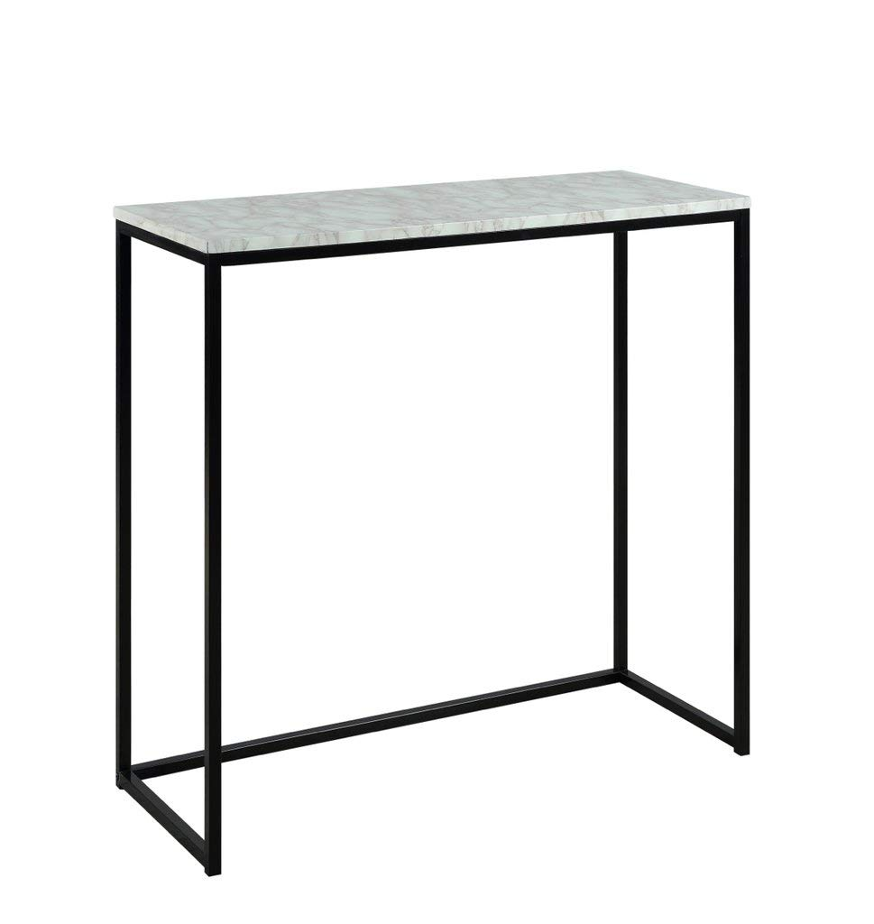 ton lane modern marble finish console accent white table for entryway hallway living room kitchen dining nautical lanterns hiend accents dale tiffany wisteria lamp outdoor light