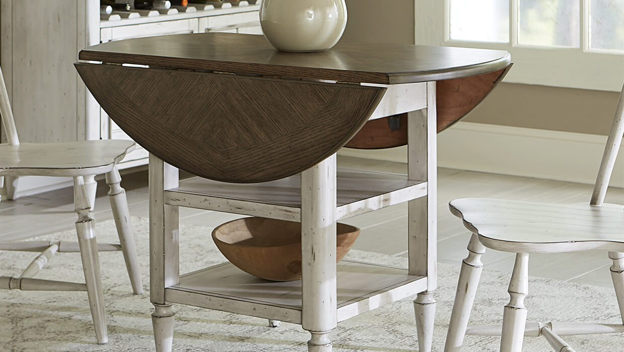top drop leaf table styles for small spaces hero farmhouse accent dining room with white chairs wicker furniture banquet wine rack metal frame bedside mini lamp pottery barn