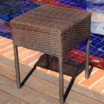 top quality wicker modern umbrella side table decor best for patio outdoor outdoors sadie adjustable drum throne moroccan lamp yellow himym metal accent brooklyn furniture slim 150x150