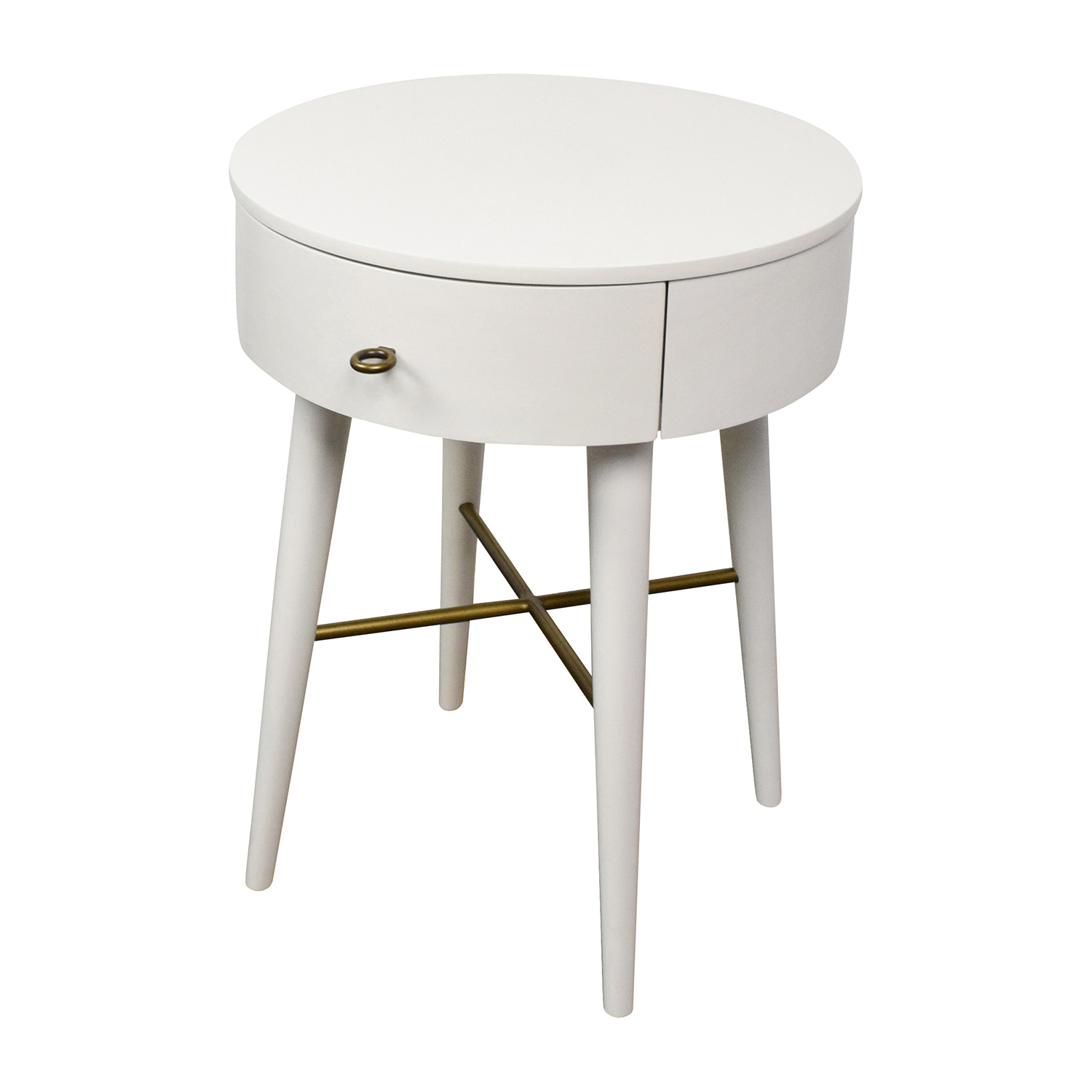 top superb round nightstand with drawer narrow accent table black bedside small end design pier one glass tops and metal coffee entryway storage white marble silver pet clothes