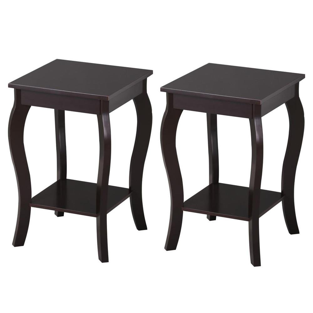 topeakmart wood curved legs accent side end table sofa winsome instructions lower shelf espresso set kitchen dining closet door handles target dark bedside drawers box bathroom