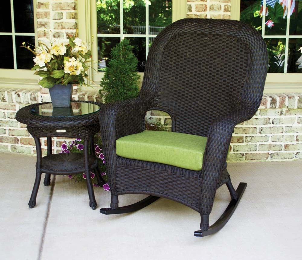 tortuga outdoor lexington wicker piece rocker and side table set lex tortoise bundle pine chairs colors rave fabric glass top end tables under cabinet wine rack coffee battery