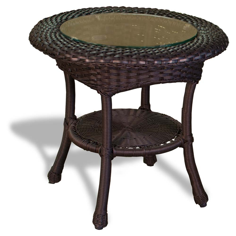 tortuga outdoor lexington wicker side table tortoise sidetable sea pines java colors mojave wedding covers dorm room furniture gold accent set quirky bedside tables bar pub style