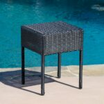 tortuga outdoor portside wicker side table narrow accent patio furniture black woven metal threshold industrial coffee and end tables whole covers high top gray teal living room 150x150