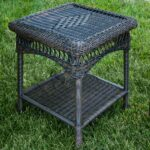 tortuga outdoor portside wicker side table sidetable with drawer mirror living room cottage style dark grey accent chair antique low glass dining sets silver and end tables pastel 150x150