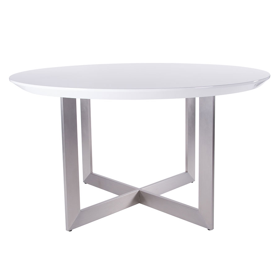 tosca glossy white dining table euro style eurway gloss lacquer accent decorative chairs globe lighting cement ikea storage bins pier one art west elm entryway blue outdoor side