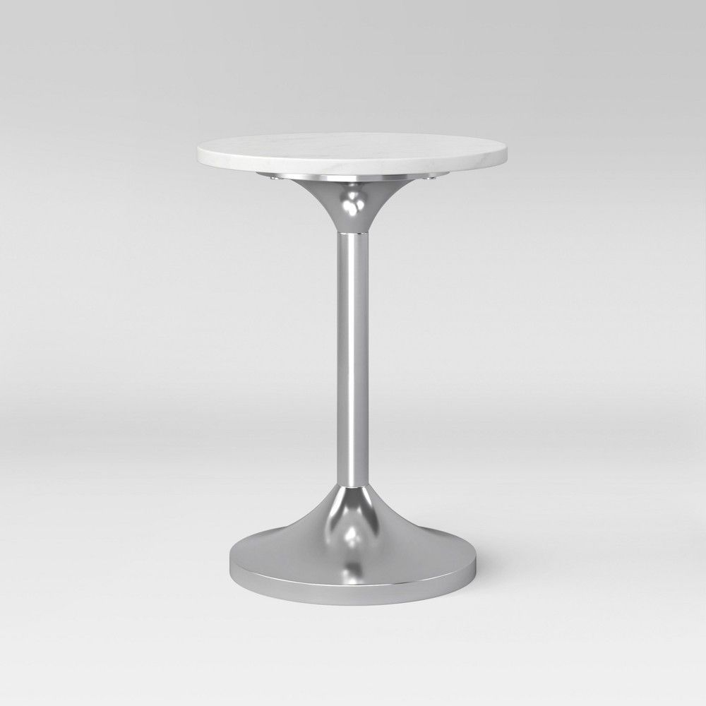 toulon marble top pedestal accent table white silver assembly target required project grey monarch specialties end wicker side indoor retro round glass lamps for bedroom coffee