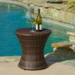 townsgate outdoor brown wicker hourglass side table gdf studio accent patio bar furniture clearance purple placemats and napkins storage black room essentials allen kidney shaped 150x150