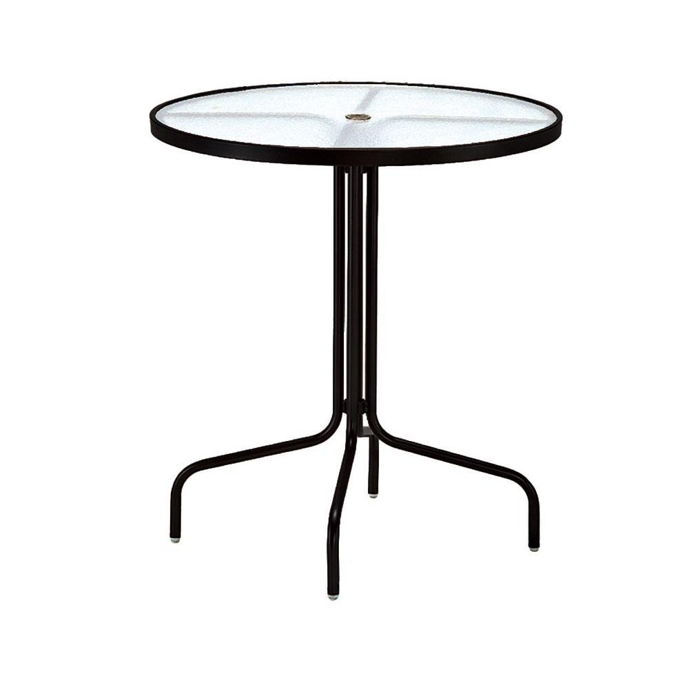 tradewinds black acrylic top commercial patio bar table height tables accent stained glass buffet lamps round pedestal living room home wall decor wisteria furniture foyer target
