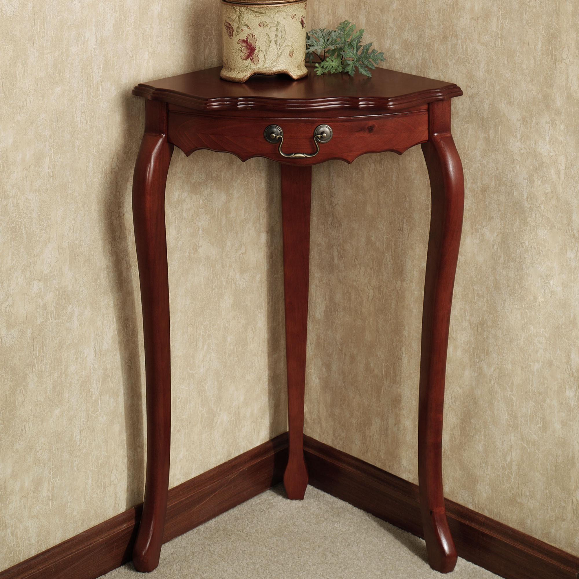 traditional corner accent table furniture with victoriana charming tall lyndhurst wooden design awesome using drawer and not pedestal for small legs oval marble cream bedside