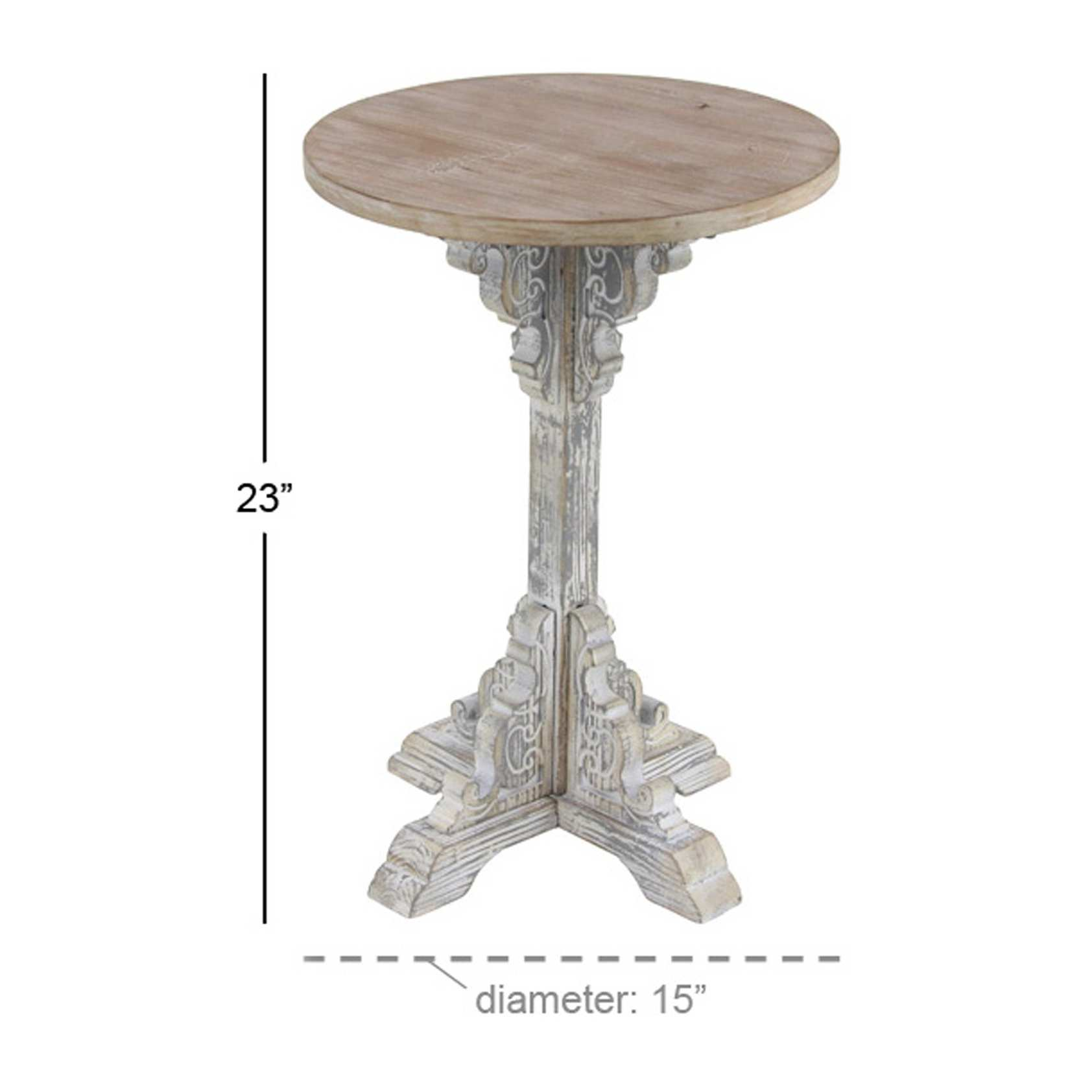 traditional inch round wood accent table gray wooden studio free shipping today living room sofa tables cover threshold side cherry bedroom furniture white rectangle tablecloth