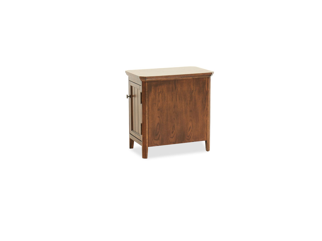 traditional one door chairside accent table dark brown mathis broy standing tapered square feet this dipped finish render appeal your living room console small laptop desk outdoor