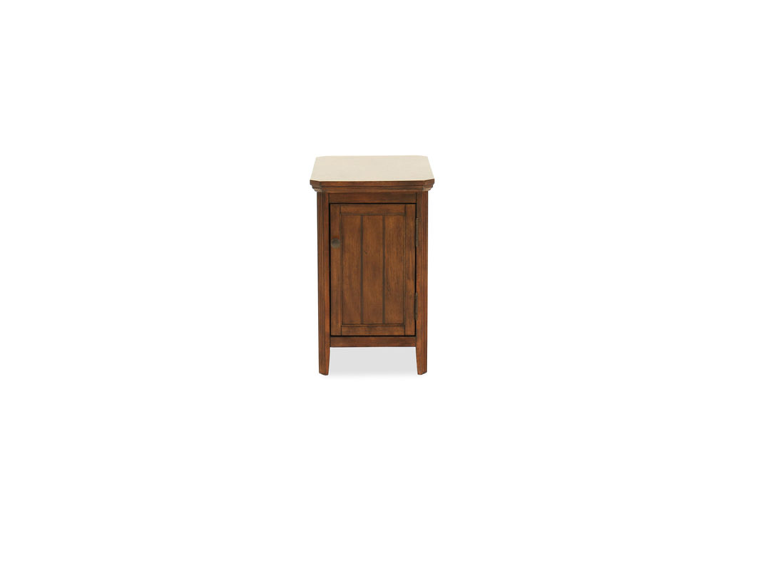 traditional one door chairside accent table dark brown mathis broy standing tapered square feet this dipped finish render appeal your living room large shade umbrella outdoor