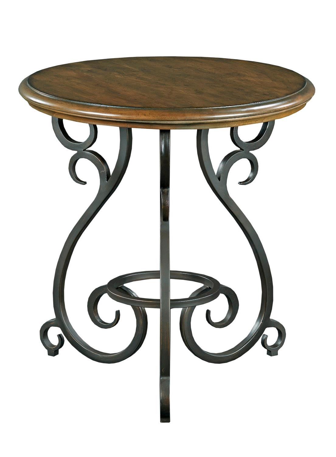traditional round accent table with old world cast iron drum resin wicker patio furniture outdoor recliner black oval coffee decorative accents rustic amazing tables kmart kids