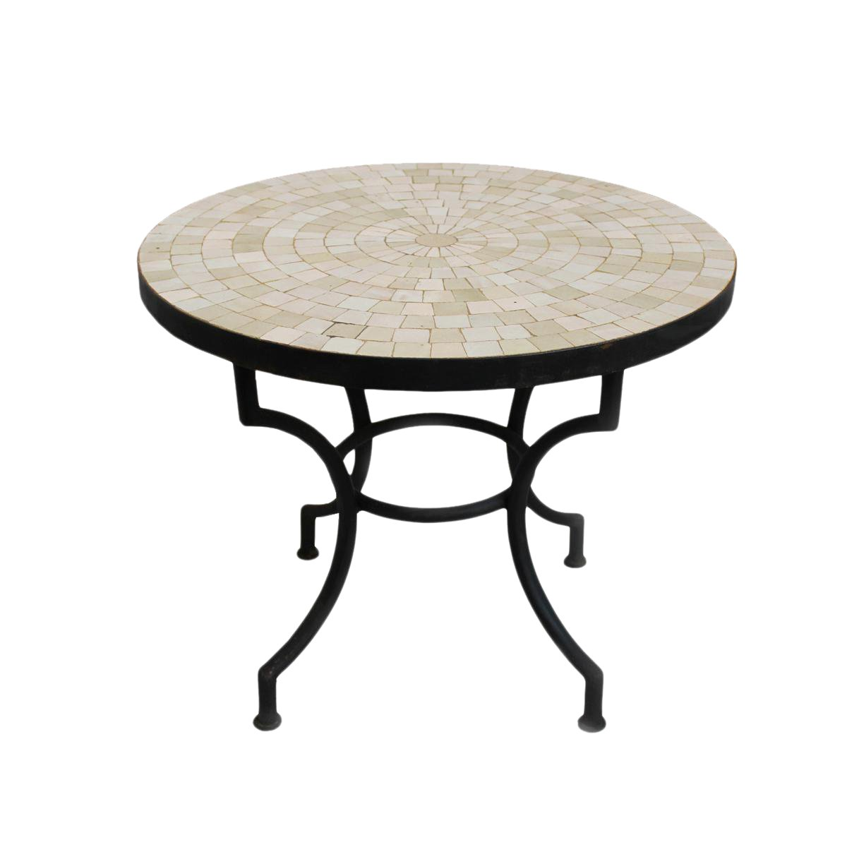 traditional round mosaic tile side table chairish outdoor accent mirror small couches for spaces laminate flooring doorway transition living room mirrored nightstand home goods