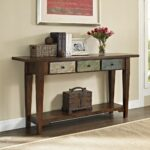 traditional rustic style weathered finish entry hallway accent sofa tables console table small glass top kitchen chairs tripod plant stand lift round vinyl tablecloth coffee and 150x150