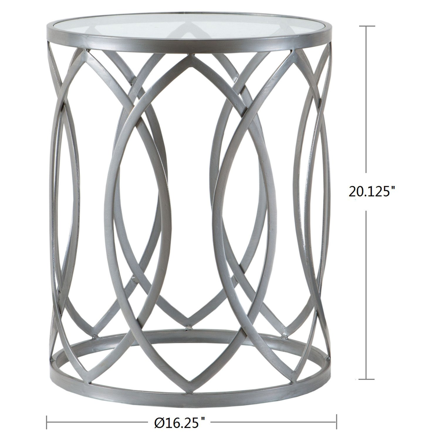 transitional coen metal eyelet accent drum table pewter storage finish glass round piece grey kitchen dining outdoor sets nautical furnishings cabinet furniture iron and coffee