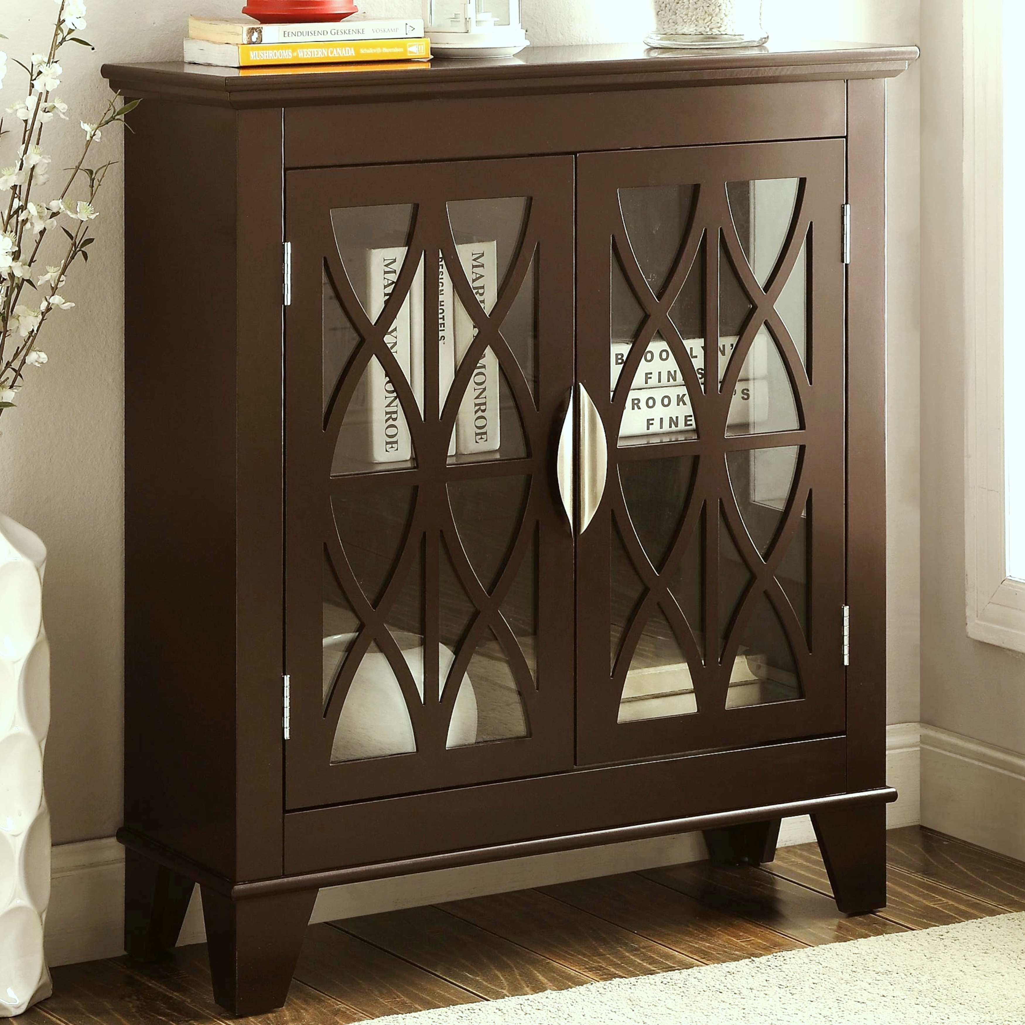 transitional design accent cabinet with decorative glass doors table free shipping today counter height chairs outdoor umbrella cantilever target chair home goods dressers