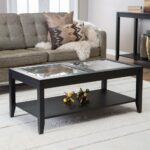 transitional glass coffee tables stylish end table decor decorative attractive shelby top with quatrefoil underlay style metal side wood iron oval floating singlema silver and 150x150