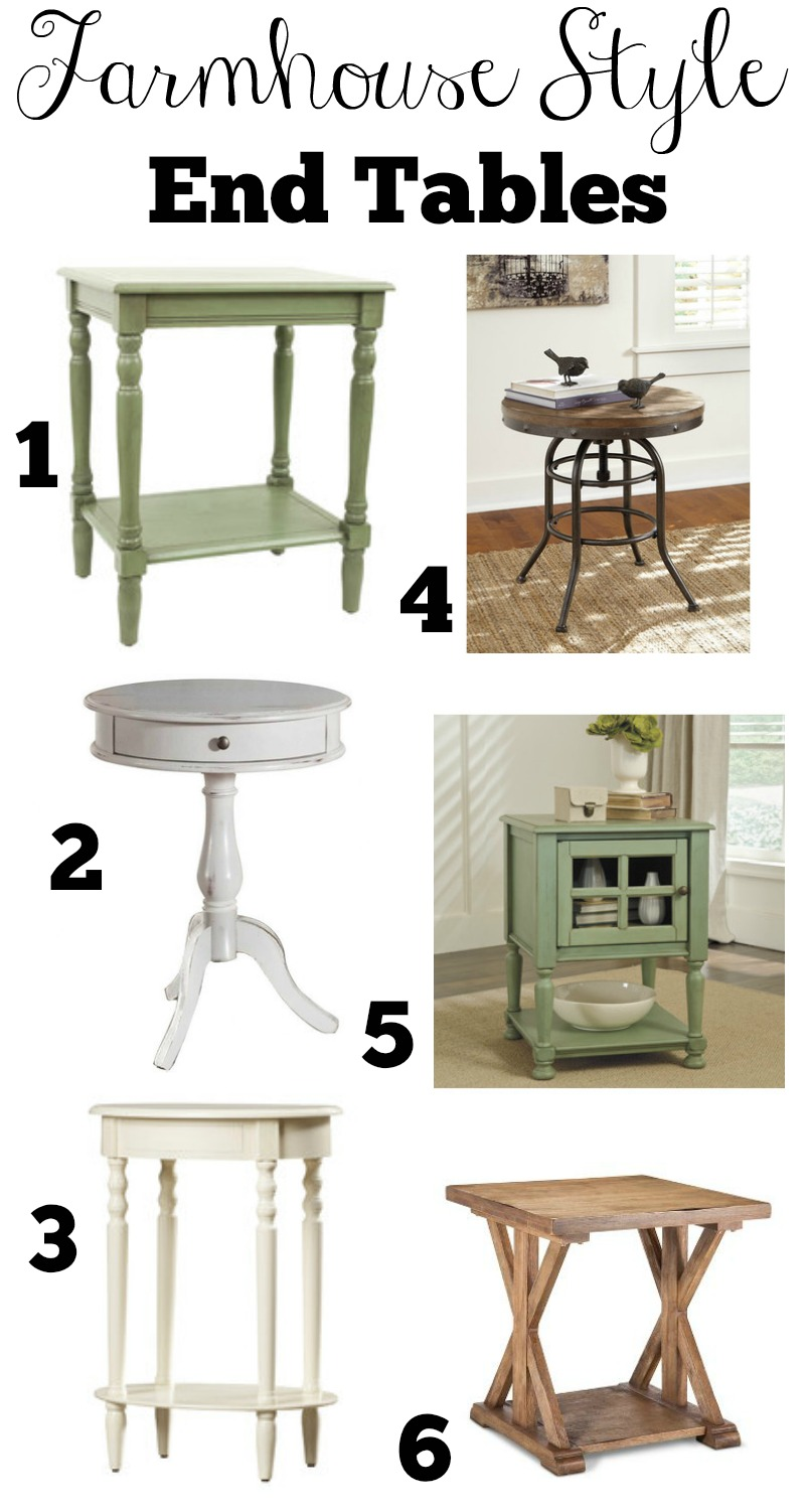 transitioning farmhouse style ping guide end tables modern accent table affordable nautical dining room chandelier small square coffee with storage unicorn canadian tire lawn