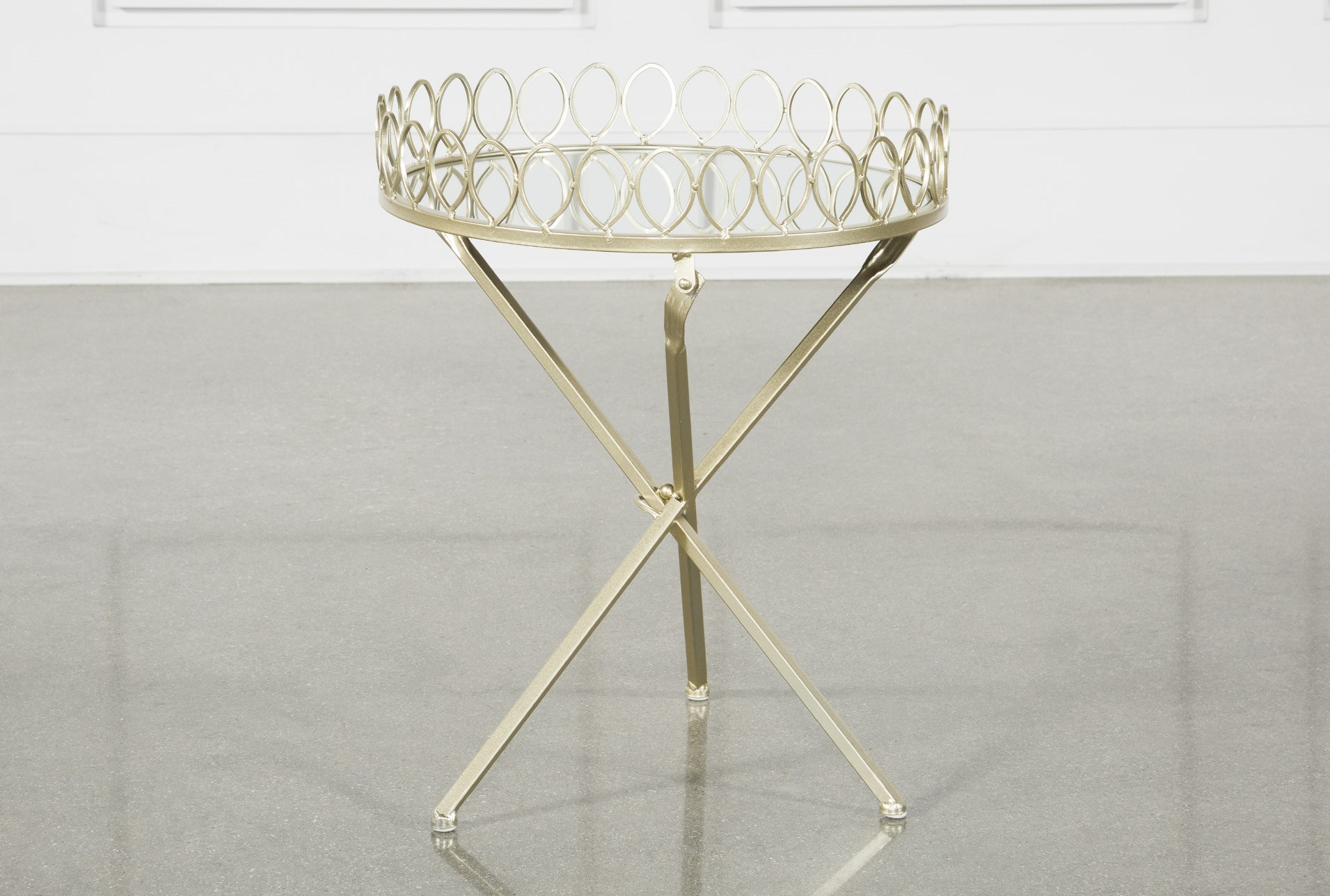 tray accent table living spaces gold metal qty has been successfully your cart end with lamp attached kitchen counter lamps structube coffee bistro tablecloths round christmas