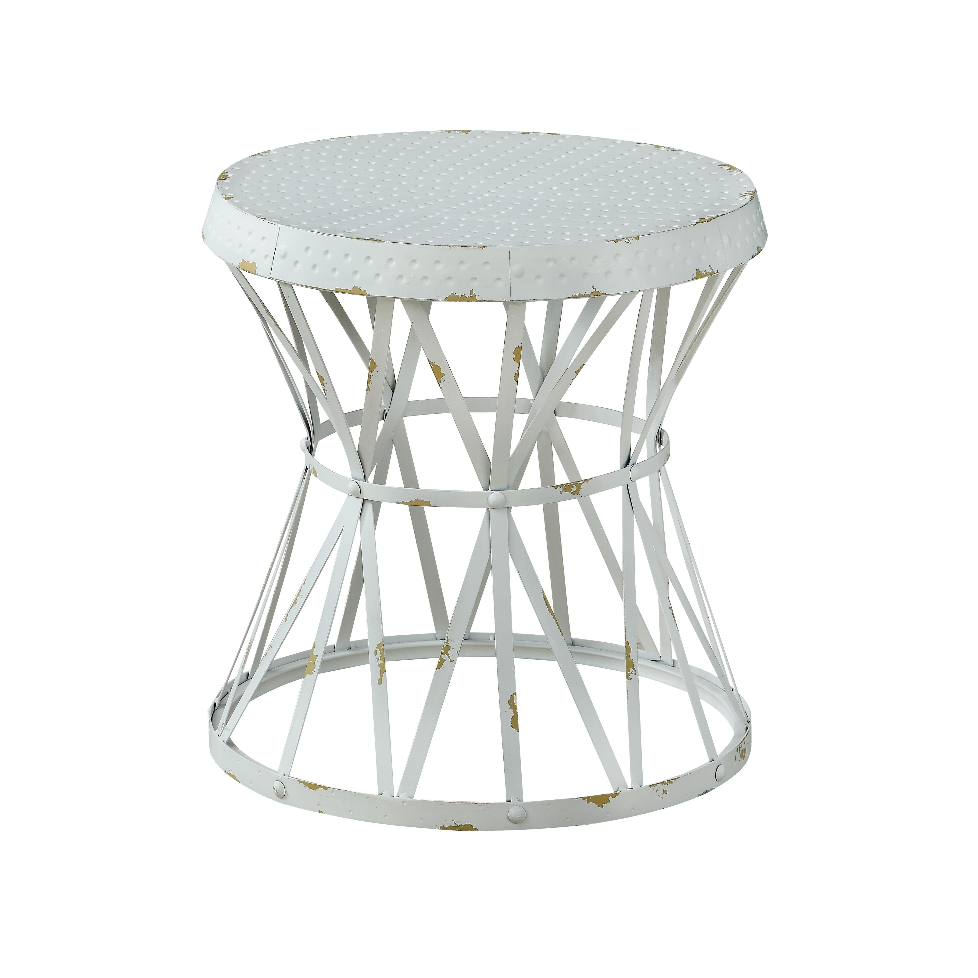 treasure trove reef weathered white small round accent table gray free shipping today bronze coffee glass top patio cover fancy bedside tables pipe restonic mattress covers for