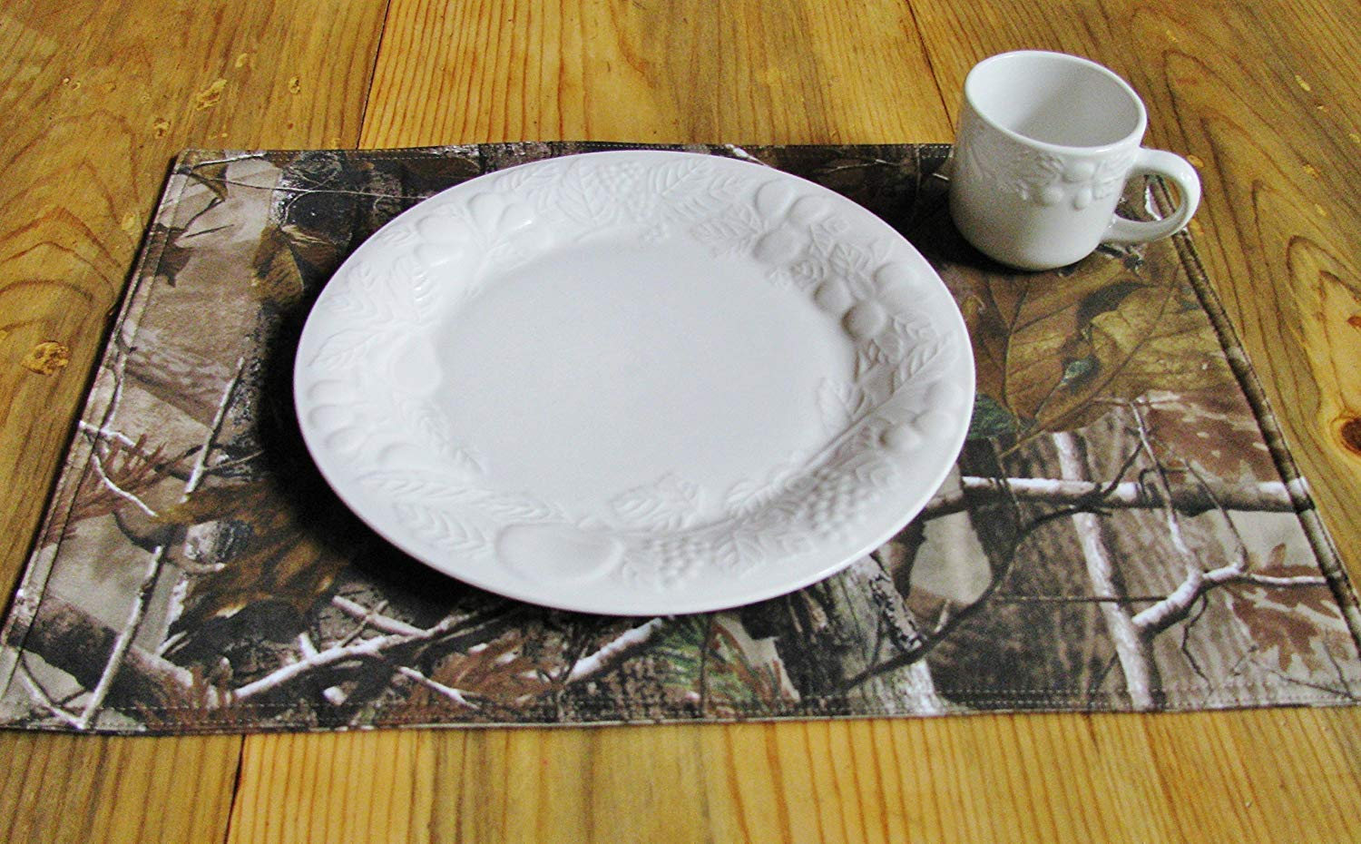 tree camo placemats individually handmade table accent placemat white washed wood end tables cool side jcpenney rugs clearance cast aluminum ikea small square round glass dining