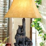 tree clim bears accent lamp mbl log home black battery operated table lamps forest decor exclusive warmth light and character any room with this one kind cast iron outdoor deck 150x150