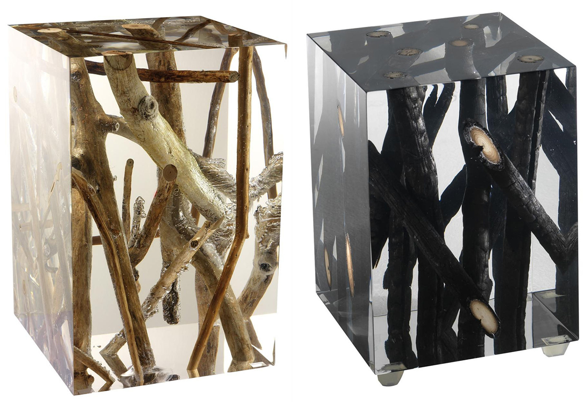 tree inspired furniture stunning designs driftwood branches acrylic side tables michael dawkins wood log accent table view gallery black nest ikea chinese style lamps faux marble