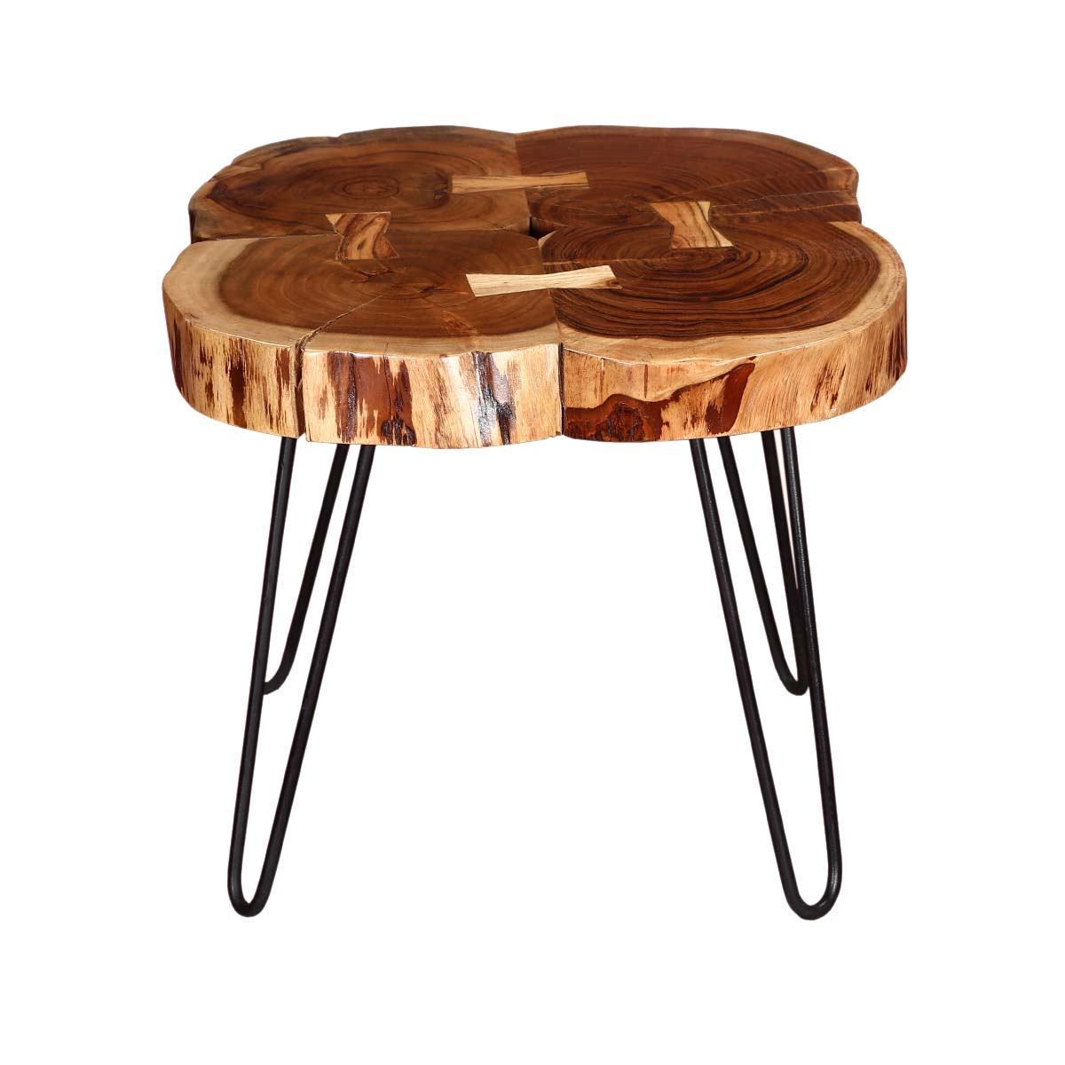 tree rings rosewood iron accent end table hallway wrought tables fabric chair rechargeable lamps for home tall bistro and chairs ikea dining room furniture garden shelf blue