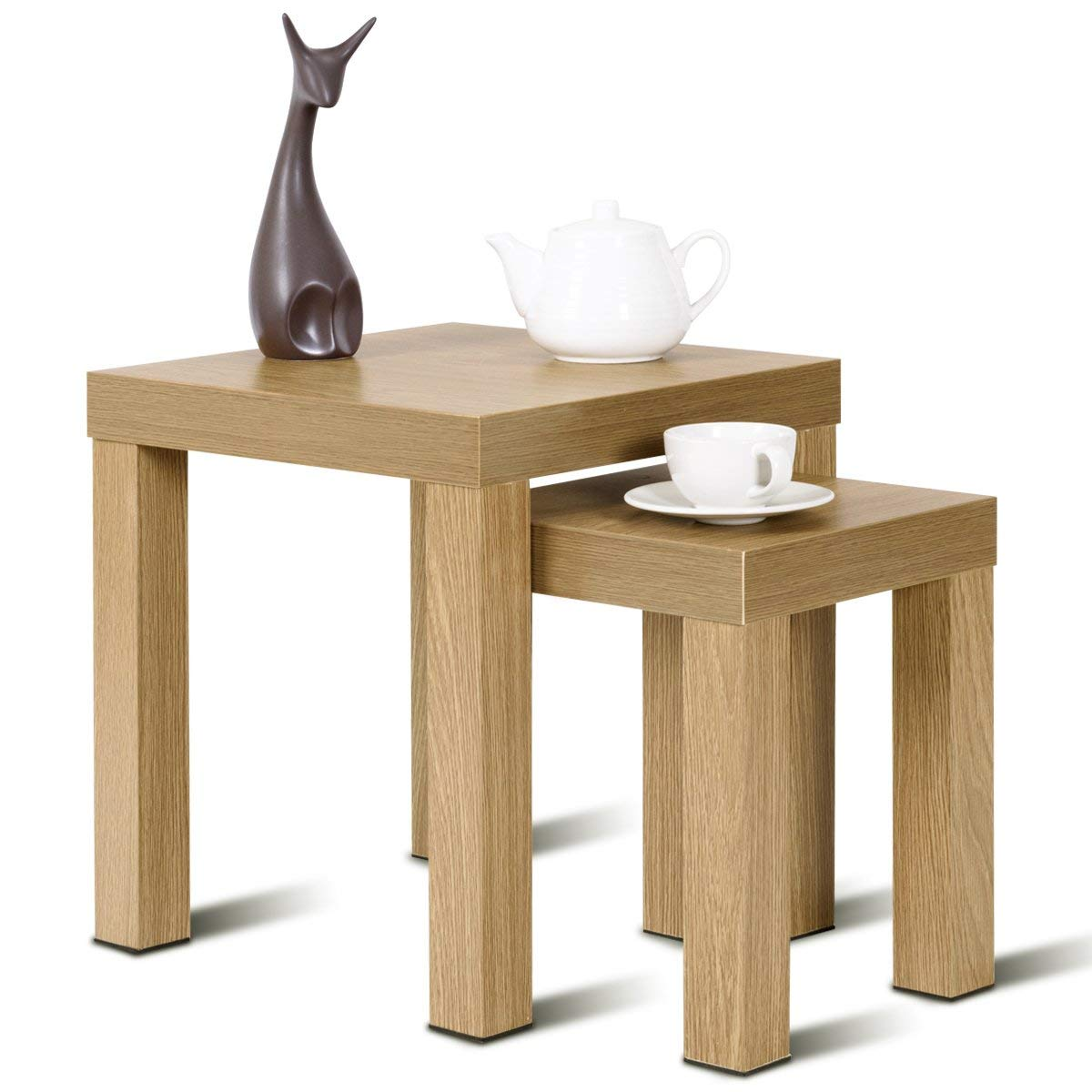 tree slab table find line wood accent get quotations giantex nesting end set color home kitchen decor casual style living room furniture decorators catalog leick computer desk