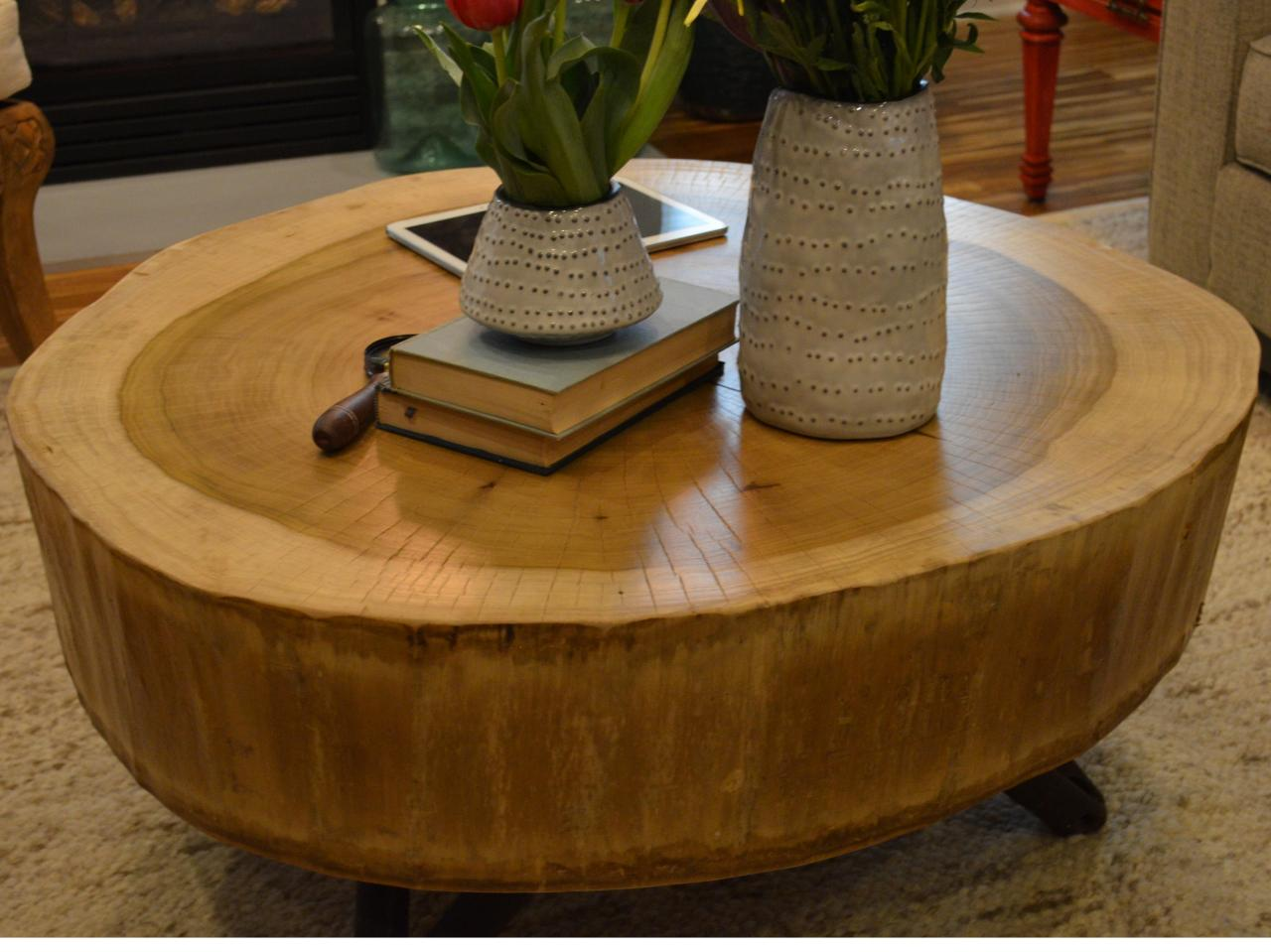 tree stump furniture table round fossil brewing design curious wood accent green coffee mirrored bedside next sofa mid century modern dining multi colored black storage cabinet