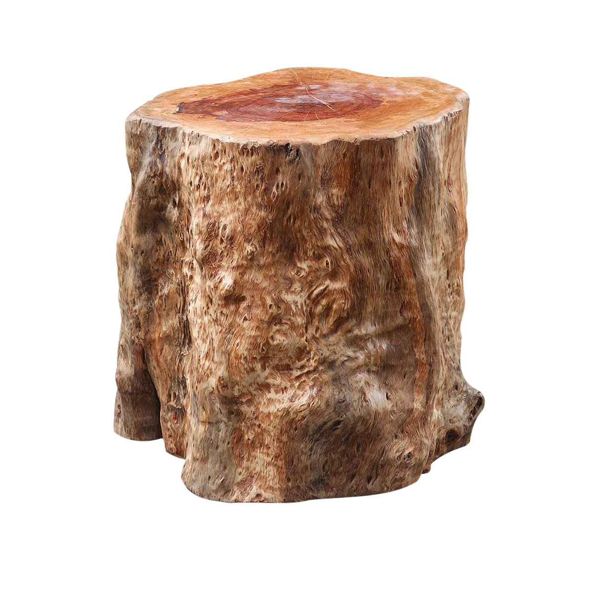 tree stump side table chairish wood accent battery operated touch lamps metal small entry console lucite coffee cream colored tables black cube end dining room chairs edmonton