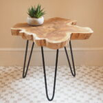 tree trunk coffee table two sizes homes original timor wood accent and metal dining small white outdoor side chairside with attached lamp tablet usb tall bookcase extra wide door 150x150