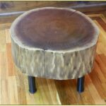 tree trunk side table contribute immense natural accent homesfeed simple wood log with metal legs rustic farmhouse and chairs high end tables antique tall long farm white entryway 150x150