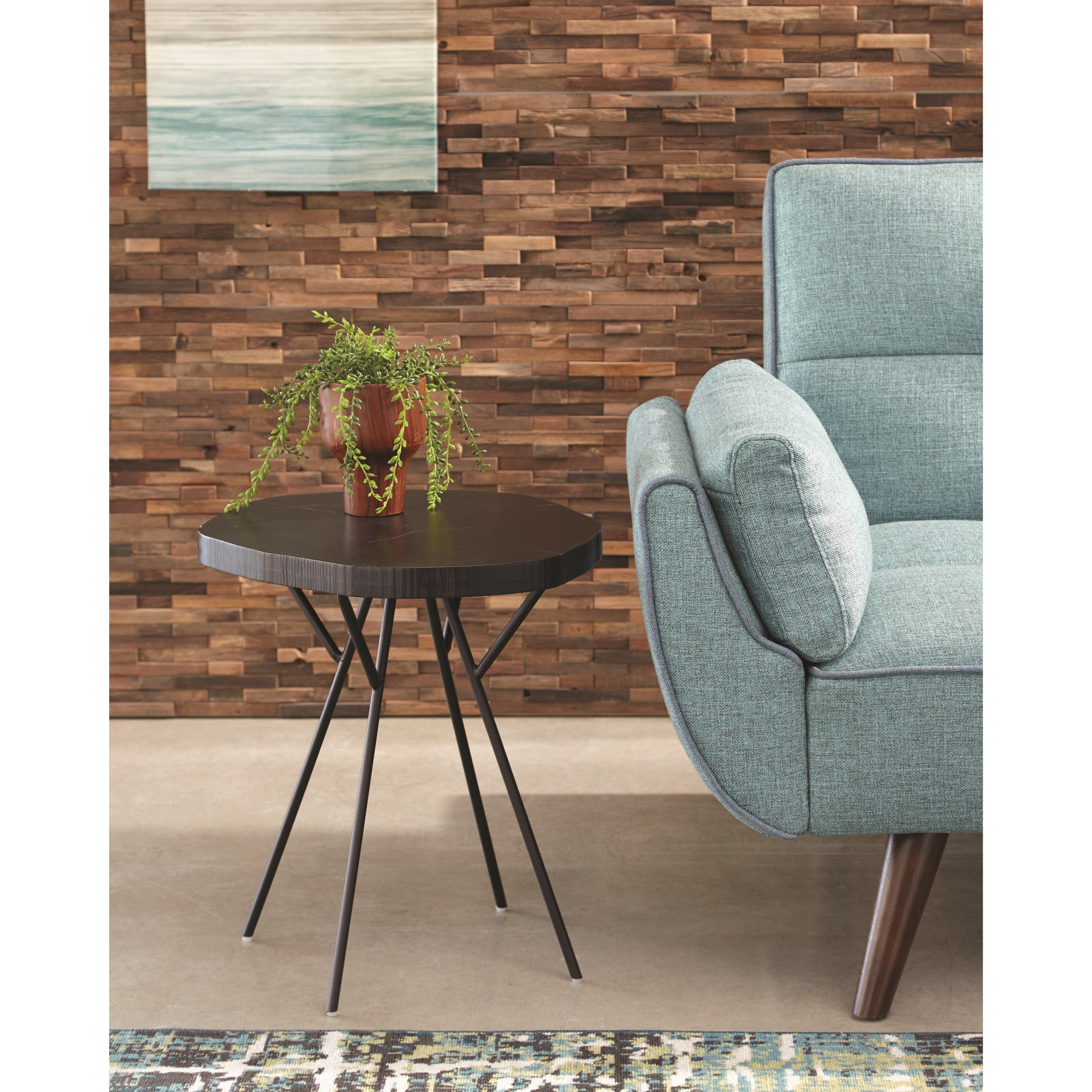 tree trunk slab accent table with metal legs scott living wolf products color counter height folding danish end bunnings swing chair pool lights telescope furniture west elm