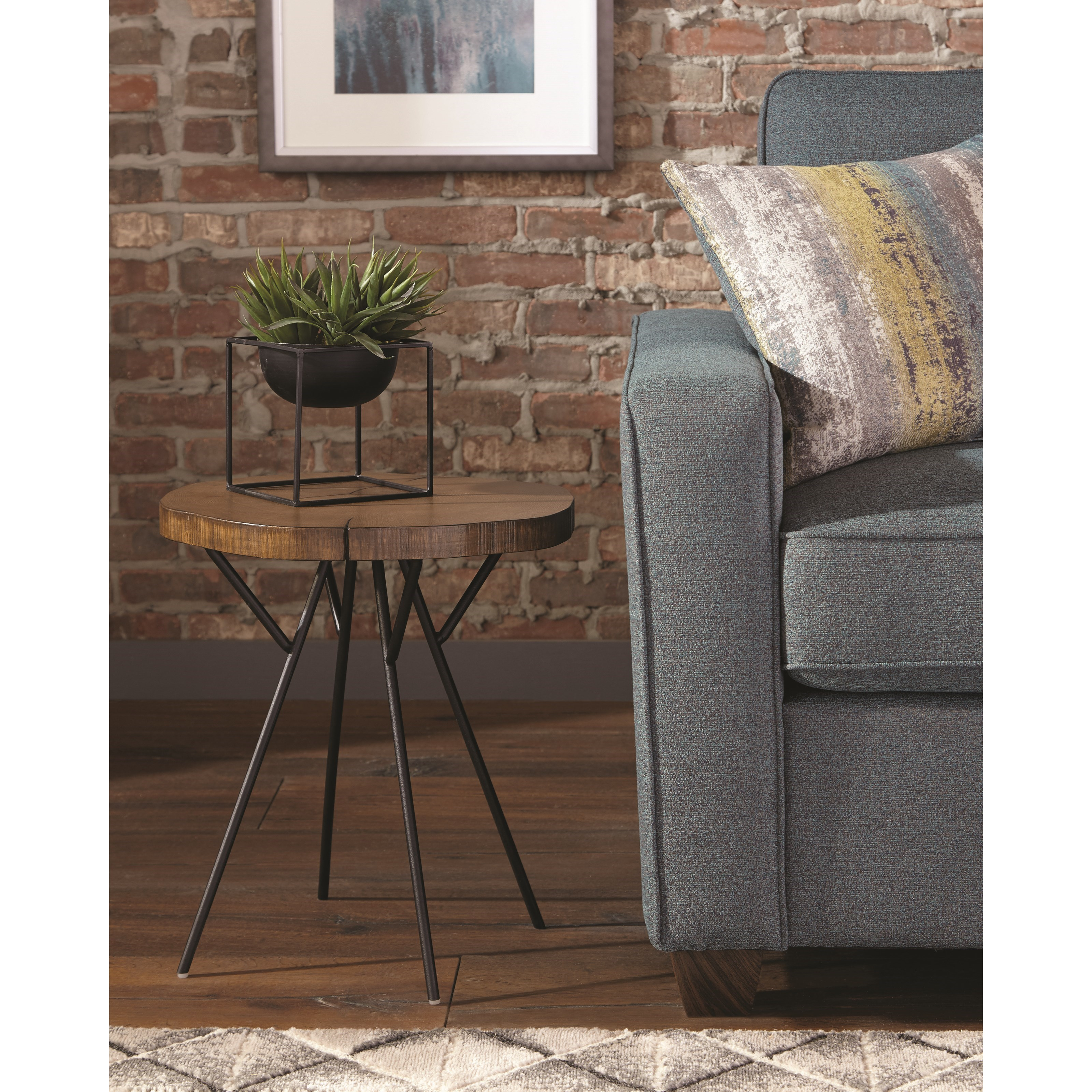 tree trunk slab accent table with metal legs scott living wolf products color danish end oak door threshold ikea accessories west elm coffee desk room cabinets drawers frame wood